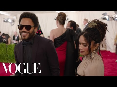 Lenny Kravitz and Lisa Bonet at the Met Gala 2015  China: Through the Looking Glass