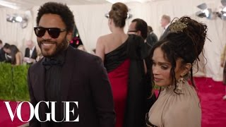 Lenny Kravitz and Lisa Bonet at the Met Gala 2015 | China: Through the Looking Glass Video