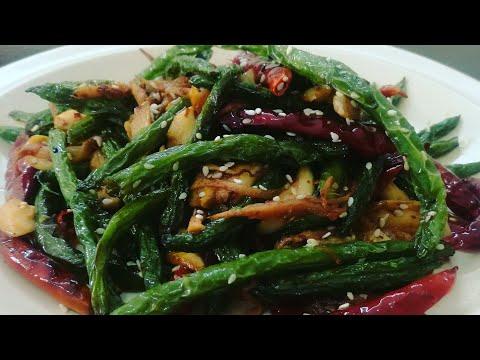 Garlic Bean Fry Recipe | Green Bean Stir Fry  | Green Beans Recipe -2018