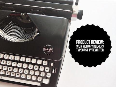 American Crafts We R Memory Keepers Typecast Brown Typewriter Ribbon,