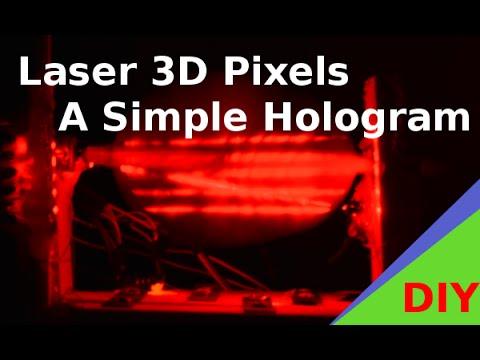 3D Laser Pixel Corkscrew - Hologram Screen Arduino DIY Tech Art