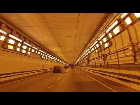 Driving from Hampton to Norfolk,Virginia