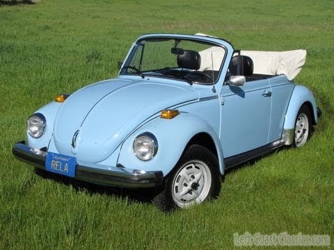 1979 vw super beetle convertible for sale youtube. Black Bedroom Furniture Sets. Home Design Ideas