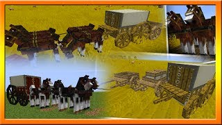 MineCraft 1.8 Horse Plows & Carriages! Community Suggestions Episode #5
