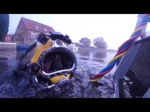 Divers repair historic Torksey Lock
