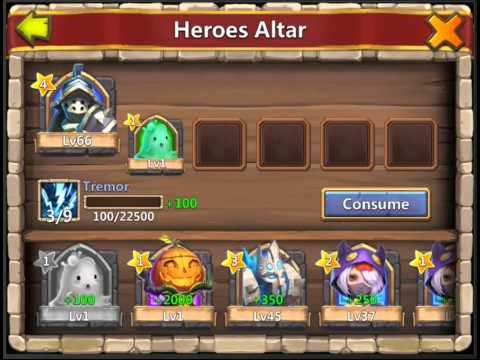 Consuming Slime To Upgrade Heroes - Castle Clash Tips