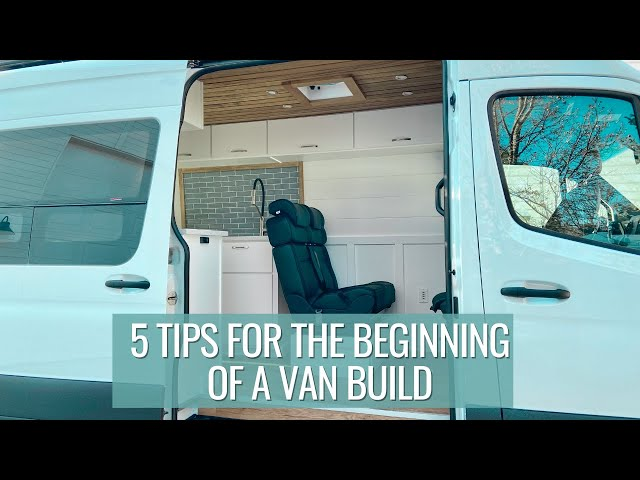 5 tips for the start of a van build, building benches & picking paint | VAN BUILD SERIES (episode 3)