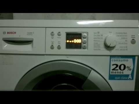 Reset lavadora Bosch / Siemens (ESP-ING)