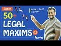 Learn 50+ Legal Terms And Maxims 02 | CLAT 2019 | foolsden.com