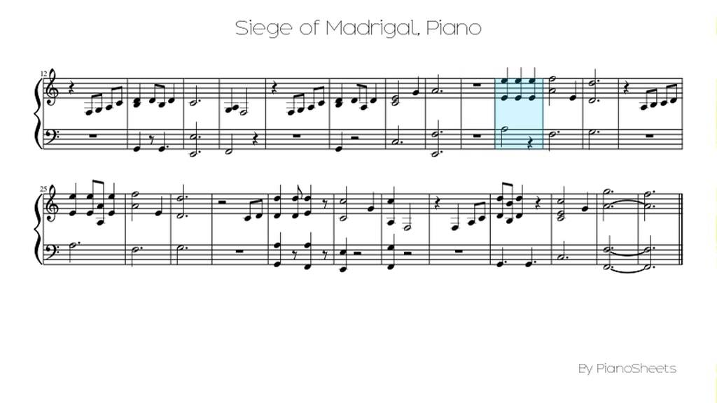 Piano anime piano sheet music : Siege of Madrigal [Piano Solo] - YouTube