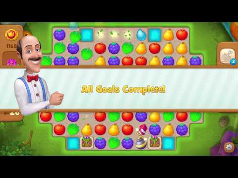 Gardenscapes Level 1168-Walkthrough 'FREE Boosters'