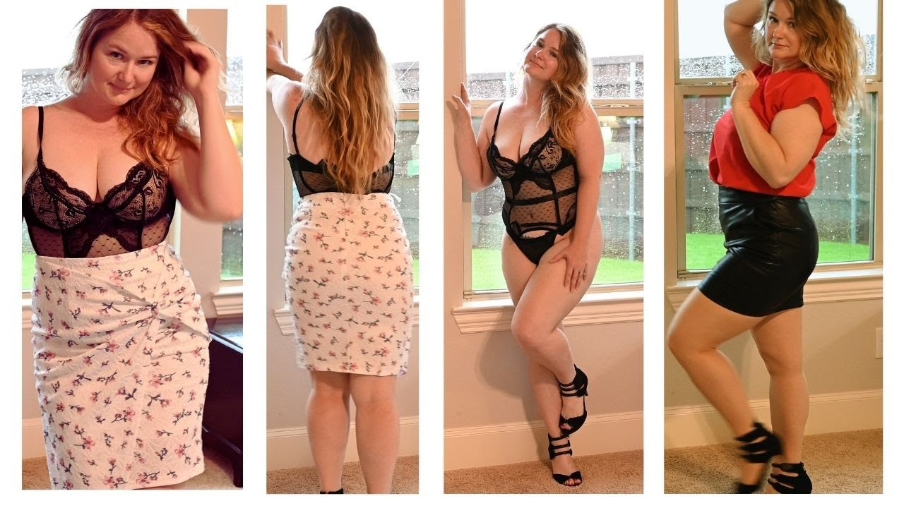 Office Outfits with Stockings & Lingerie Try On