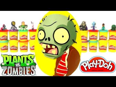 Huevo Sorpresa Gigante de Plants vs Zombies en Español de Plastilina Play Doh