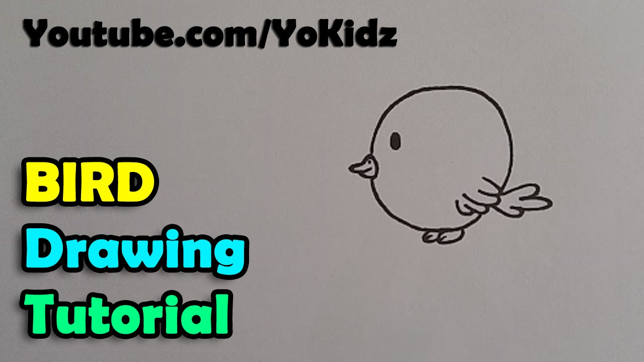 How To Draw A Bird Step By Step For Kids Easy And Simple