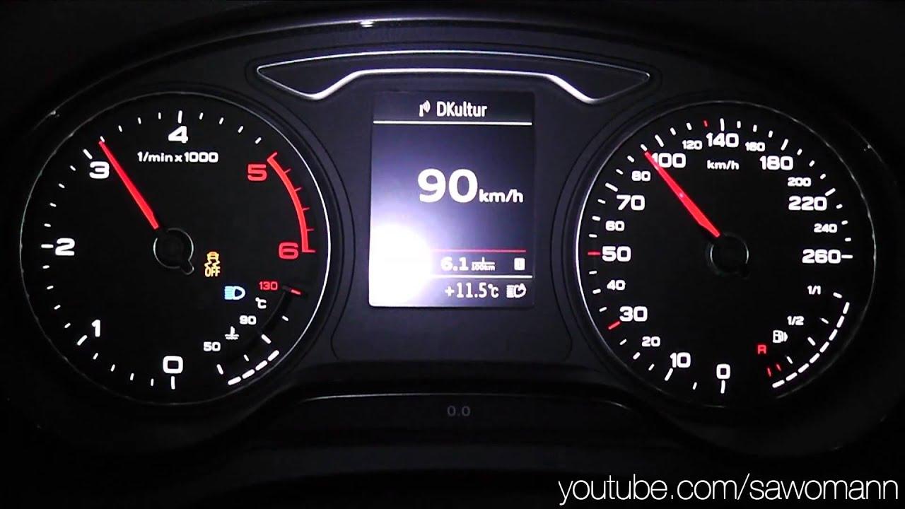 2014 Audi A3 Limousine 2 0 TDI 150 HP 0 100 km h Acceleration GPS