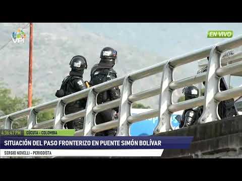 Colombia - Enfrentamiento en puente Francisco de Paula Santander - VPItv