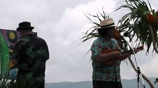 2012年4月15日八重山・西表島の船浮で行われた音祭り ゲストで出...
