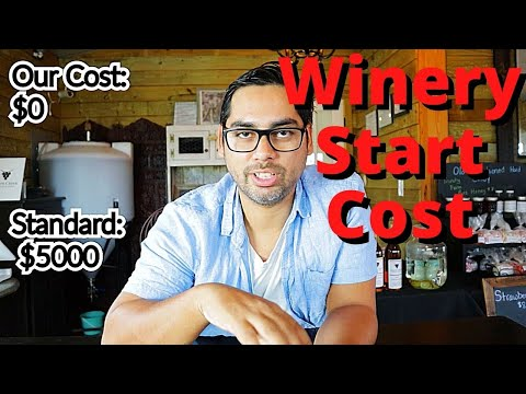 Cost of Starting a Winery