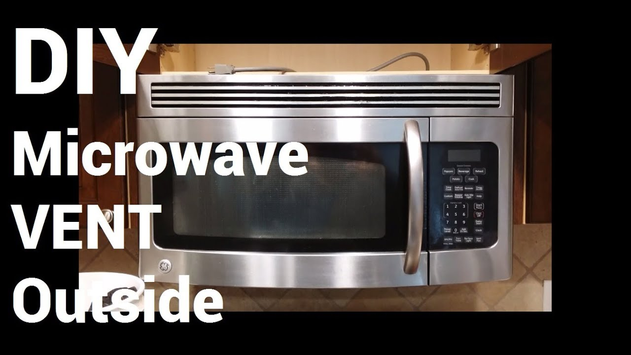 Over Range Microwave Vent to Outside - YouTube