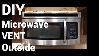 over range microwave vent to outside diy how to install over stove microwave diy home improvement
