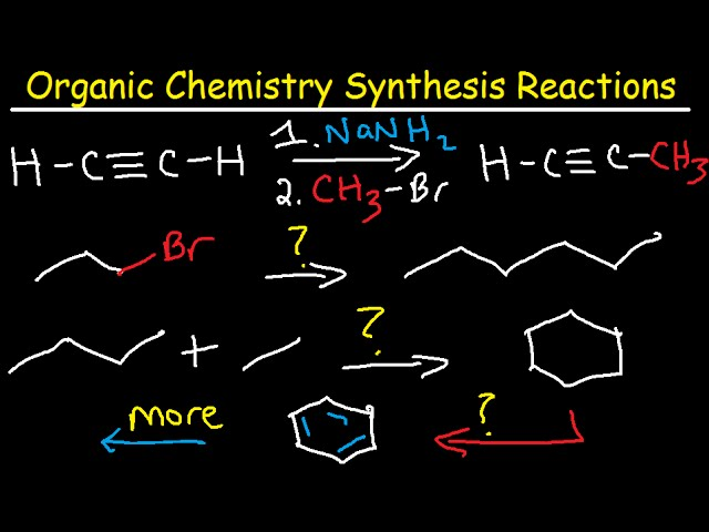Organic Chemistry Synthesis Reactions - Examples and Practice Problems -  Retrosynthesis