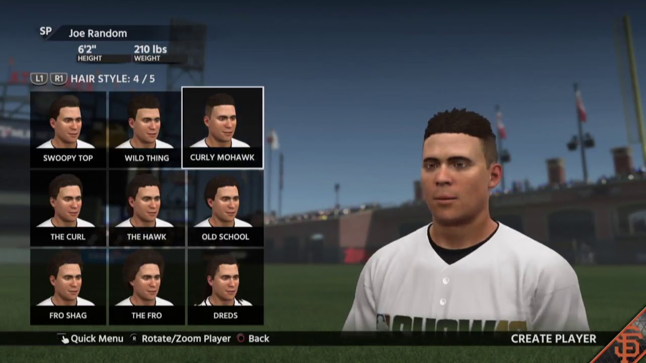 Mlb The Show 18 All Hair Styles Youtube