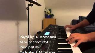 Mozart Eine kleine Nachtmusik/Little Night Music - MoXF orchestra & live piano (excerpt)