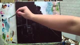Алла Белопесоцкая урок живописи маслом(мастер-класс)