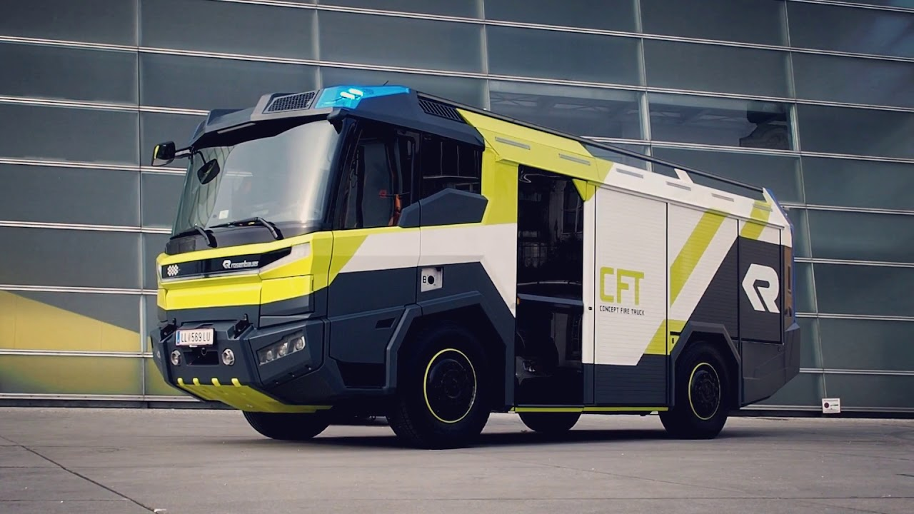 Rosenbauer Concept Fire Truck (CFT) at 2018 Ars Electronica Festival
