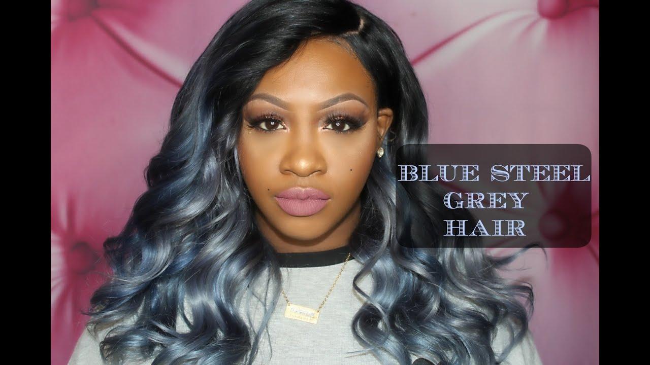 Dark Blue Grey Hair Www Pixshark Com Images Galleries