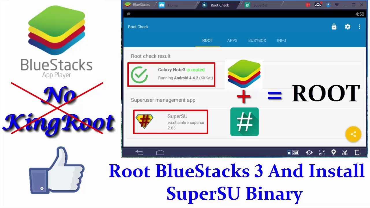 How To Root BlueStacks 3 And Install SuperSU Without KingRoot || Latest  Version 2017 || Eng Subs