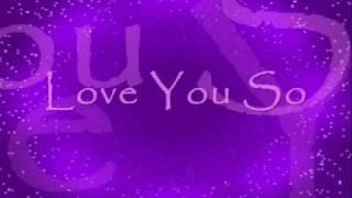 Love You So by Natalie - LYRICS