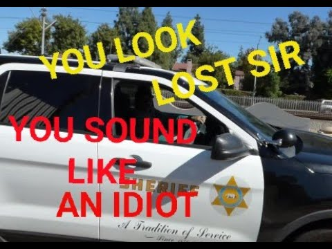 COMPTON SHERIFFS DEPT, ( DEPUTY  ACTING STUPID ) 1st Amendment audit