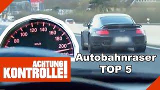 Top 5 Autobahnraser: Dİe Polizei kommt BLEIFÜSSEN auf die Spur! | Kabel Eins | Achtung Kontrolle