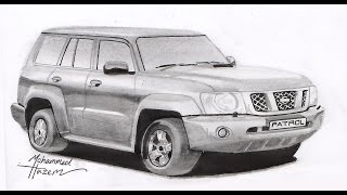 Speed Drawing of 2008 Nissan Patrol by Mohammed Hazem