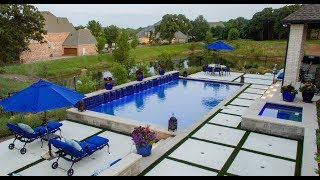 Colleyville Hillside Modern Pool Fly By