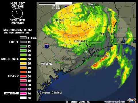Hurricane Ike Houston Doppler Radar Time Lapse Youtube