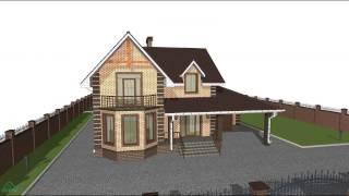 видео Проект дома с эркером и мансардой