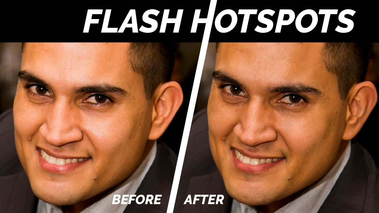 Removing Shiny Flash Hotspots in Photoshop