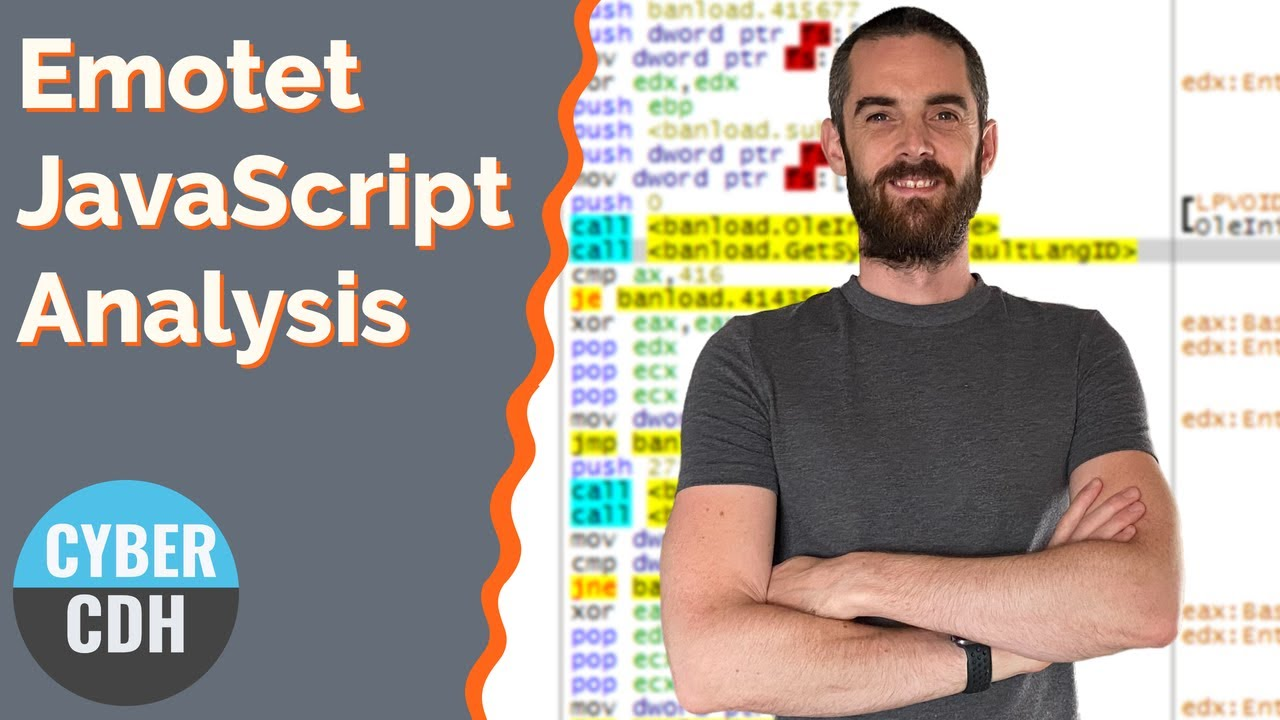 Quick code analysis of a malicious Emotet JavaScript downloader