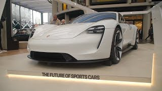Porsche Mission E (Taycan Concept) on display in Sydney