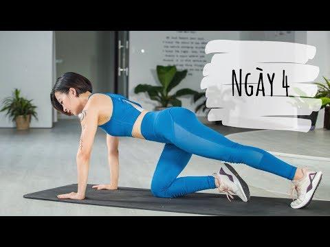 7 ngày siết mỡ bụng + thực đơn | Ngày 4 | Workout #105 | Hana Giang Anh