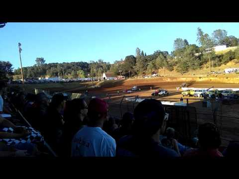 Heat #3 Sprint cars at Placerville Speedway! August 6th 2016!