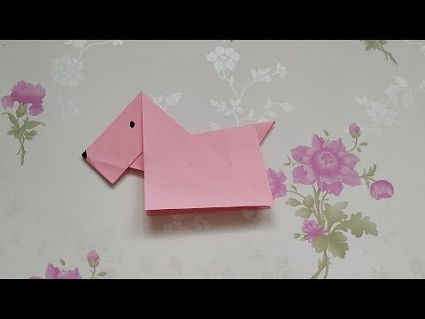 手工折纸DIY,如何折叠纸木马,超级简单的纸木马折法