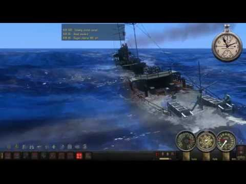 SH4 TMO - Attacking a lone destroyer - Silent Hunter 4