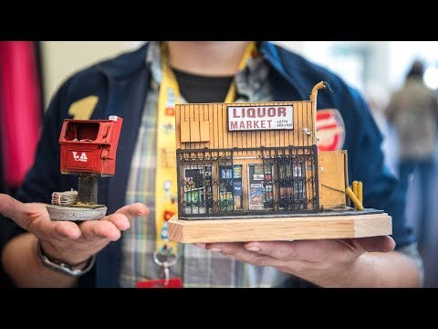 Scatch-Built Miniature Models Of LA City Streets