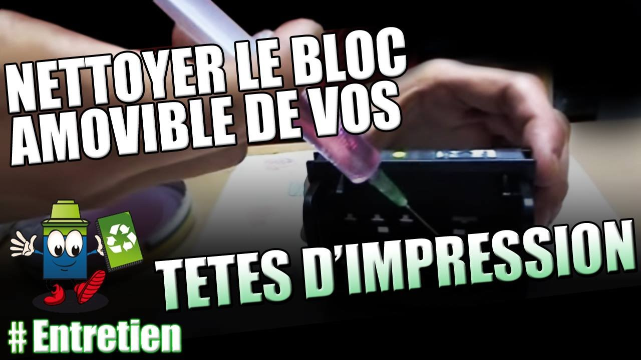 Nettoyer un bloc amovible de ttes dimpression  YouTube