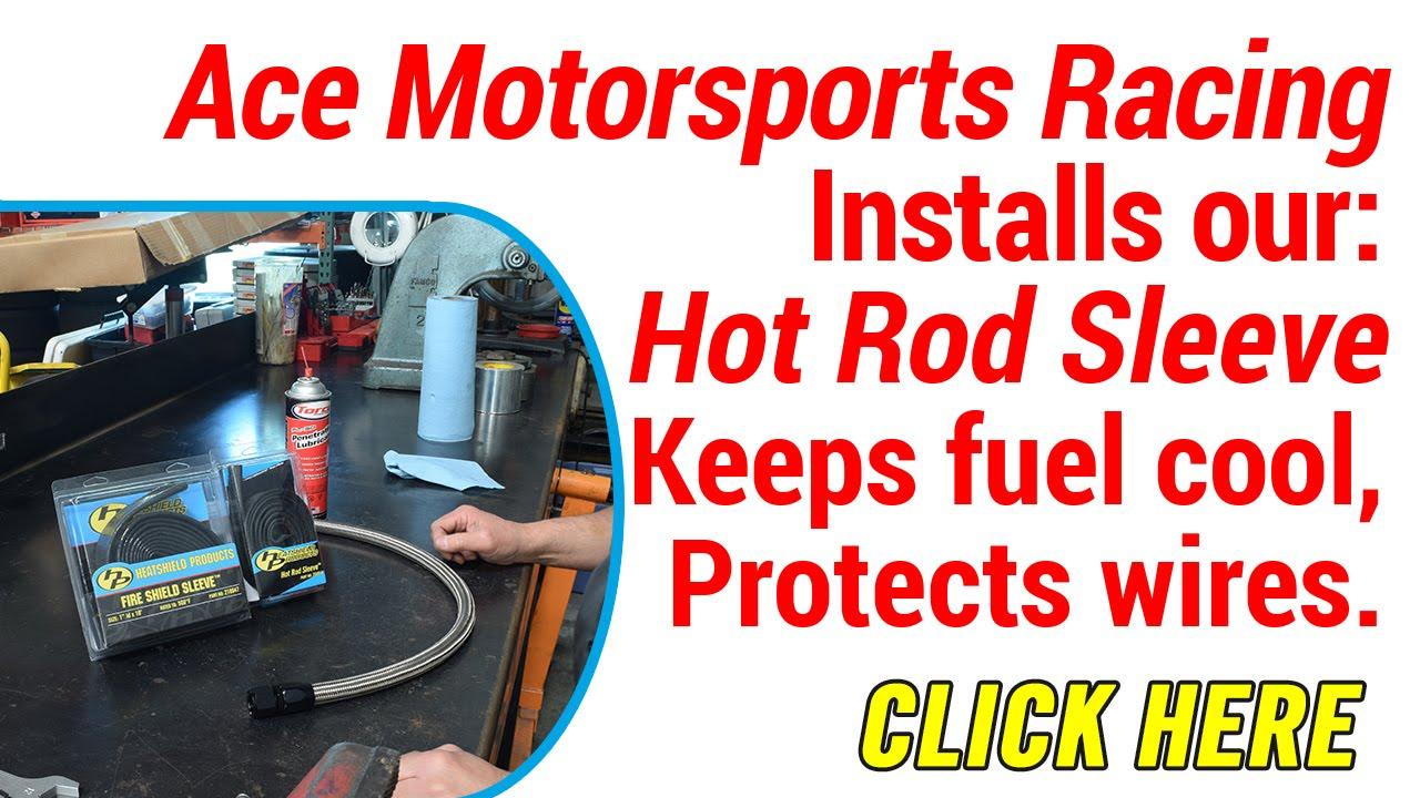 Fix Vapor Lock Installing Heat Shield Sleeve For Fuel