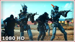 Роботы против бандитов - Крутой момент | Робот по имени Чаппи (2015)