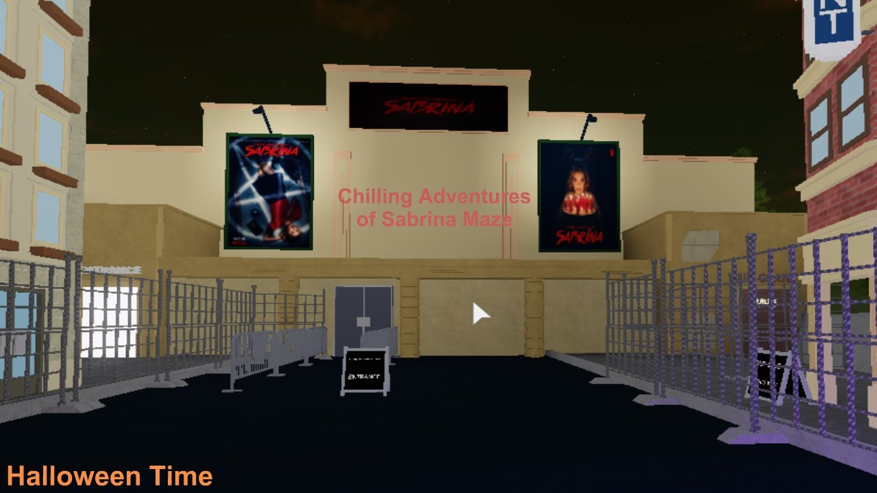 Bloxneyland Roblox 67 Roblox Video Chilling Adventures Of Sabrina Maze At Brick World Halloween Time 2 Youtube